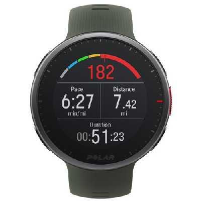 Pack Montre GPS Multisports Cardio Polar Premium Vantage V2 Vert + Capteur de fréquence cardiaque