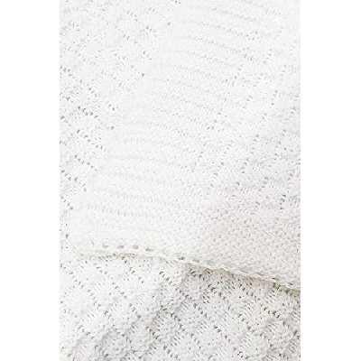 Wallaboo Couverture pour bébé Eden, Plaid, Très Doux pour Bébé, Couverture de Bébé Tricotée, 100% coton bio, 90x 70cm, fabriqué en Allemagne, Couleur: Blanc