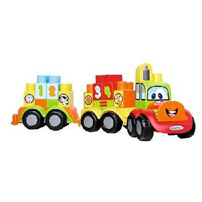 Jouets Ecoiffier -7779 - Mon 1er train Abrick Maxi – Jeu de construction pour enfants – Dès 12 mois – Fabriqué en France