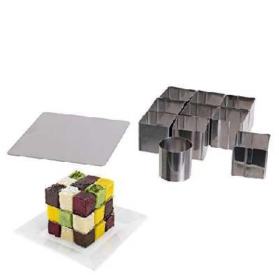 Moule à Gateau 25 Cubes Et Plaques De Superposition
