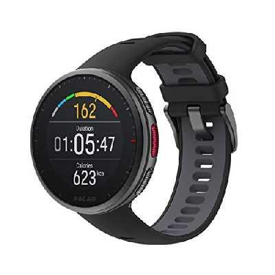 Polar Vantage V2 - GPS Montre Connectée Running et Triathlon Premium - Mesure de la Fréquence Cardiaque au poignet pour Course à pied, Natation, Cyclisme - Contrôle de la Musique, Météo