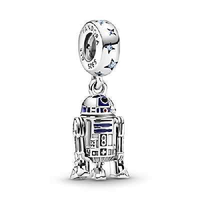 Pandora 799248C01 Breloque Star Wars en argent sterling R2-D2