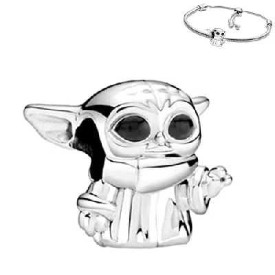 Belinia Prestige - Pendentif star wars - pour- bracelet pandora ou collier - 925/1000 Sterling +1 bracelet réglable OFFERT (Stars)